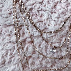 Dainty Rose Gold Layered Necklace